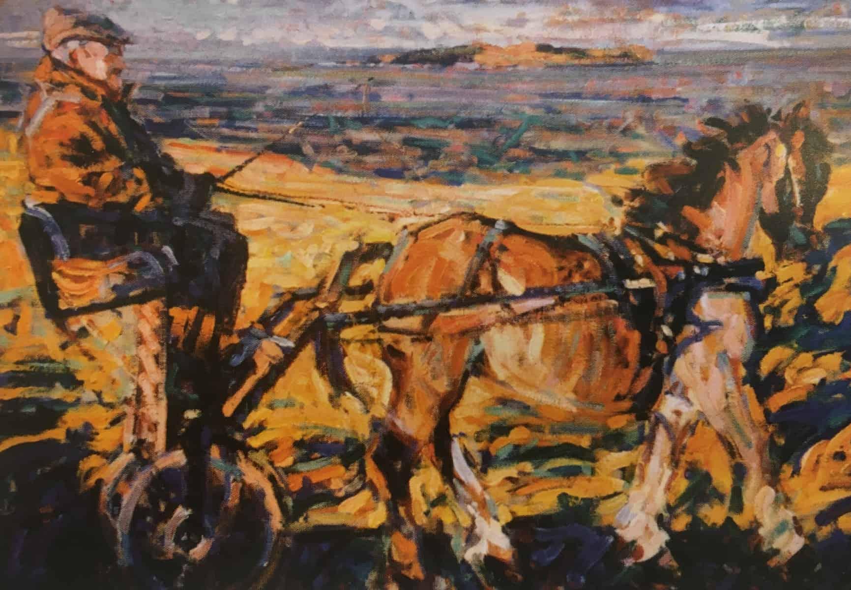 Arthur Maderson, Timpeall Chinn Sléibhe, oil on canvas, 37 x 48 inches.