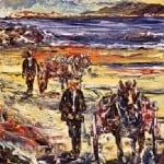 Print Ltd Ed : Ar Thraig an Fhiona; On Wine Strand by Liam O'Neill