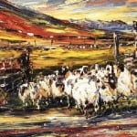 Print Ltd Ed : Caoirigh on gCnoc; Mountain Sheep by Liam O'Neill: Irish art at The Greenlane Gallery