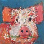 Henrietta Pig by Deborah Donnelly: Irish art at The Greenlane Gallery