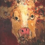 Cow by Deborah Donnelly: Irish art at The Greenlane Gallery