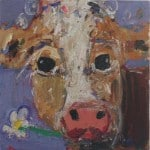 Lavender Cow by Deborah Donnelly