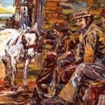 Print Ltd Ed : Lá Na GCapall; Day of the Horse Fair by Liam O'Neill: Irish art at The Greenlane Gallery
