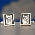 Night Owl Cufflinks by Alan Ardiff