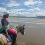 Louise and Cookie by Dingle Horse Riding