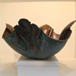 Large Copper Bowl, Green by Mary Jane Verniere