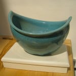 Turquoise Boat Bowl by Lone O'Reilly