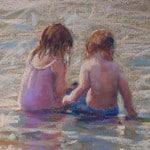 Boy and Girl at Banna Beach by Vivienne St Clair