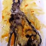 September Hare 100X70cm