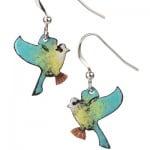 Blue Tit Earrings by Saba Jewellery