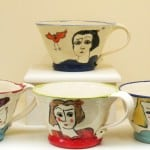 Portrait Cups by Dóirín Saurus