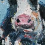 Cow : Black & Blue by Deborah Donnelly