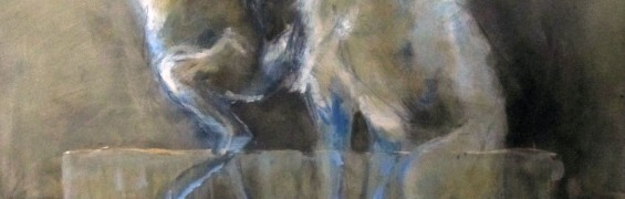 Blue Hares, Oil on Canvas,100x80cm