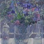 Flowers in the Studio Window by Patsy Farr