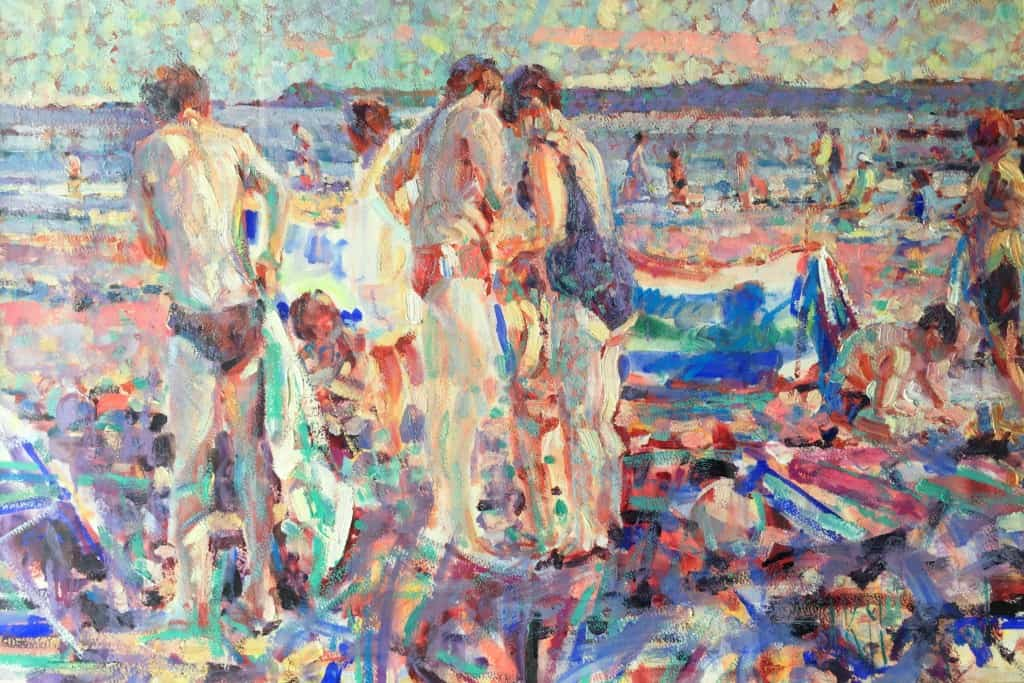 Boys on the Beach, Almost Going Home Time, 64 x 94 cm