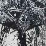 Cocooned in Kelp – Etching by Áine Ní Chíobháin