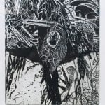 'Cocooned in Kelp', Etching, Edition of 20, 14 x 12 cm (2)