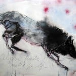 Female Wolf Mates for Life, Acyrlic & Mixed Media, 70 x 100 cm