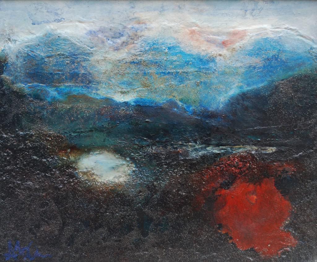 'Lagúna', Acrylic &Mix Media on Canvas,25x 30cm, €660.
