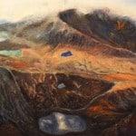'Pedlar's Lake',Acrylic& Mixed Media on Canvas, 61 x 91 cm.