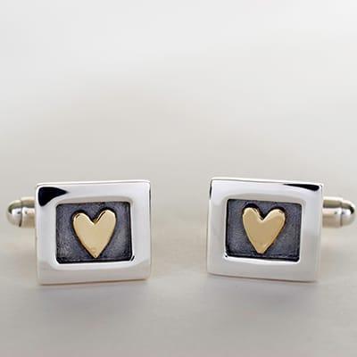 Heart of Gold Cufflinks, 185