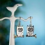 Little Owl Earrings by Alan Ardiff