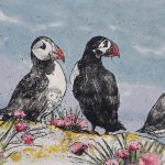 Four Puffins – Limited Edition Prints by Annabel Langrish