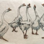 Goosestep – Limited Edition Print by Annabel Langrish