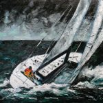 Silently Running Before the Rain by Michael Flaherty: Irish art at The Greenlane Gallery