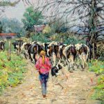 Milking Time by James Brohan
