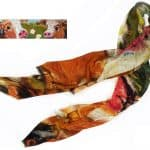 Scarf : Green Cows by Deborah Donnelly