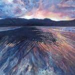 Aine Ni Chiobhain, 'Brandon Bay', Acyrlic & Mixed Media on Canvas, 26 x 36 cm
