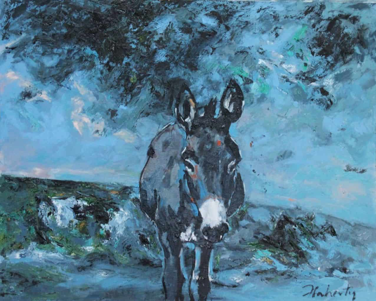 Donkey I, Oil on Panel, 24 x 30 Inches, €5,500