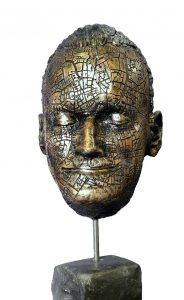 John Coll, Ulysses Sleeps, Bronze, 50 x 20 x 15 cm