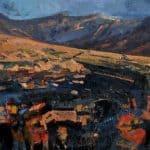 Patsy Farr, 'Com a Lochaigh, Black River Gold Light, Oil on Canvas, 100 x 127 cm