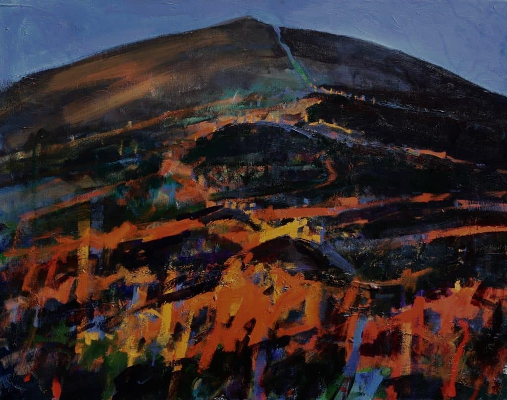 Patsy Farr, 'Fire on the Mountain', Oil on Canvas, 61 x 76 cm