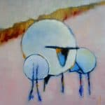 Baa Baa II, oil on canvas, 50 x 50cm