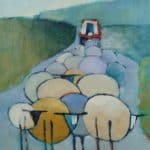 Baa Baa IV, oil on canvas, 60 x 45cm