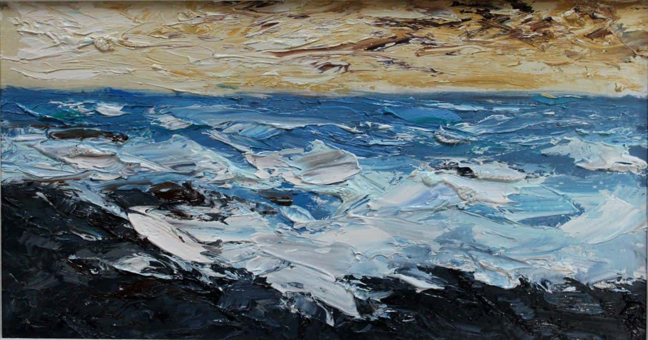 Brandon Bay, oil on panel, 19 x 29 cm, €650