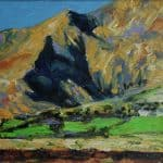Brandon Peak, oil on panel, 26 x 26 cm , €950