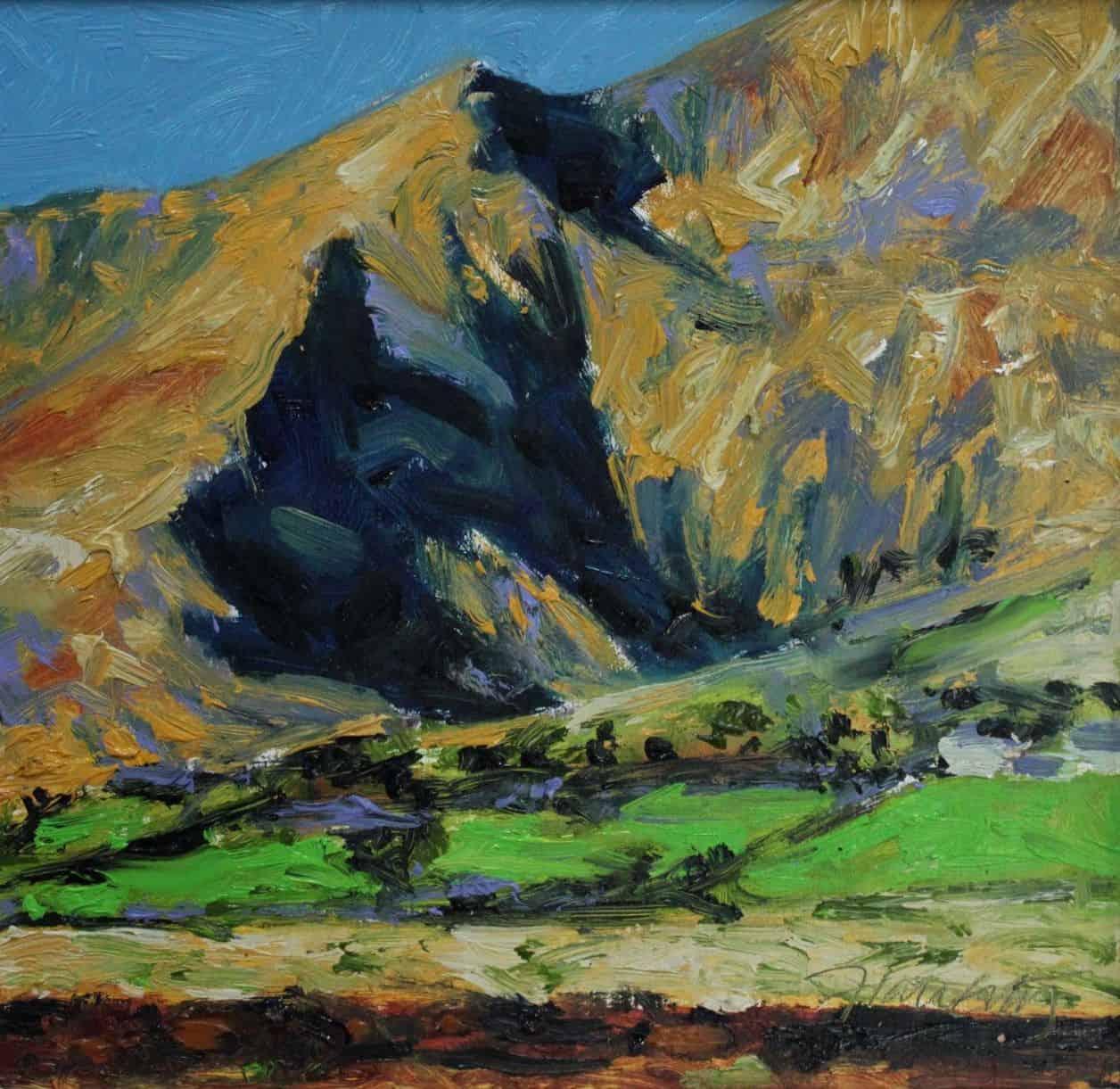 Brandon Peak, oil on panel, 26 x 26 cm , €950