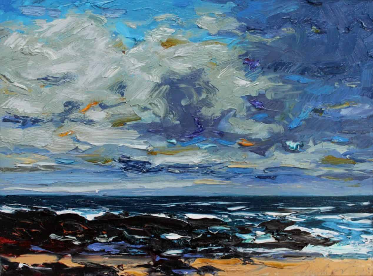 Clouds Fermoyle, oil on panel, 31 x 41 cm, €2,500