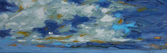 Fermoyle Sky, oil on panel, 31 x 41 cm, €2,500