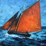 Galway Hooker, Oil on PAnel, 62 x 76 cm, €5,500