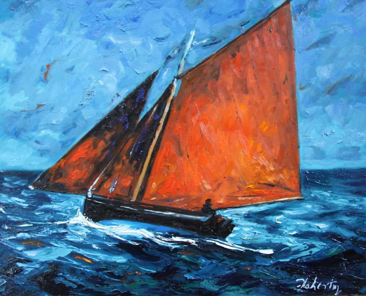 Galway Hooker, Oil on PAnel, 62 x 76 cm, €5,500