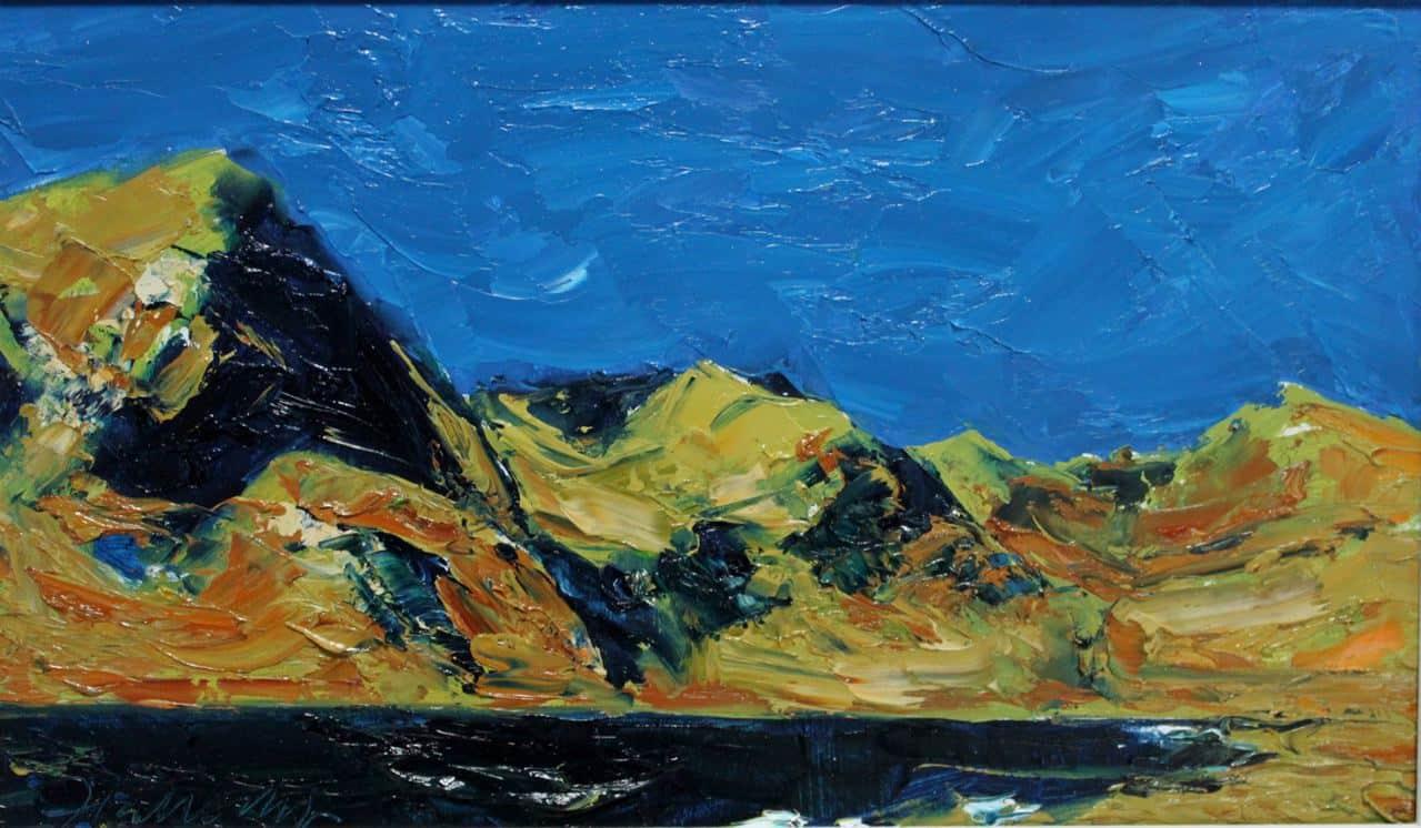 Loch Cruite, oil on panel, 24 x 40 cm, €1,250