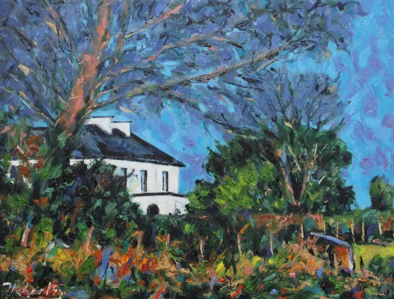 Presbytery, Camp II, oil on Panel, 46 x 61, €3,500#