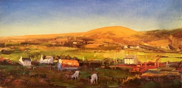 Near Ballyferriter, oil on canvas, 20 x 41 cm