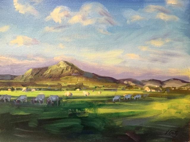 Near the Conor Pass, 31 x 41 cm