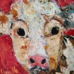 Curious Cow by Deborah Donnelly: Irish art at The Greenlane Gallery
